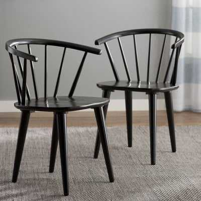 Arielle Arm Chair / Set of 2 / Black - Wayfair