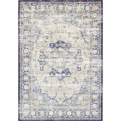 Koury Blue/Beige Area Rug - Wayfair