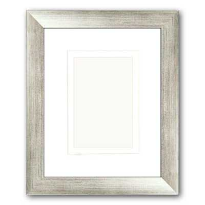 1-Opening 4 in. x 6 in. or 5 in. x 7 in. Matted Silver Picture Frame (Set of 2) - Home Depot