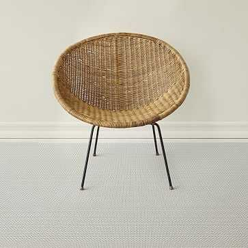 Chilewich Strike Woven Floormat, Limestone, 6'x8.8' - West Elm