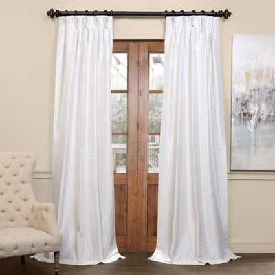 Forbell Solid Blackout Vintage Textured Faux Dupioni Thermal Pinch Pleat Single Curtain Panel - AllModern