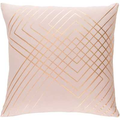 Eversholt Poly Euro Pillow, Pink 20x20 - Home Depot