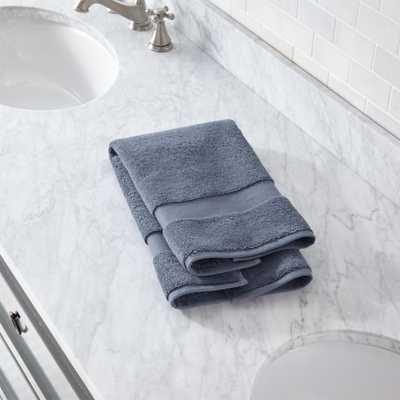 Organic 800-Gram Evening Blue Turkish Hand Towel - Crate and Barrel