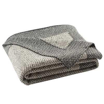 Dania Knit Throw Blanket Dark Gray - Safavieh - Target