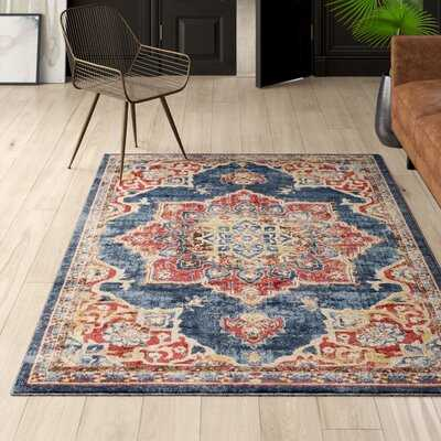 Dulin Navy Blue Oriental Area Rug - Birch Lane