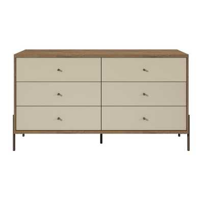 Manhattan Comfort Joy 59 in. Wide Off-White 6-Drawer Double Dresser, Off White - Home Depot