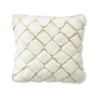 "Faux Fur Pillow Cover, Ivory Diamond Wolf, 18"" X 18"" - Williams Sonoma"