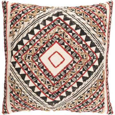 Wadham Poly Euro Pillow, Red - Home Depot