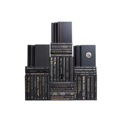 Authentic Decorative Books - By Color Modern Luxe Book Wall, Set of 50 (5 Linear Feet) - Wayfair