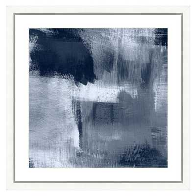 "Vintage Print Gallery ""Navy blue abstract I"" Framed Archival Paper Wall Art (24x24 in full size) - Home Depot"
