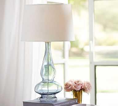 Aubrey Curvy Bedside Lamp, Turquoise - Pottery Barn