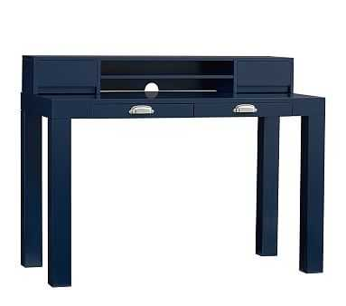 Parsons Desk & Hutch Set, Midnight Navy, Unlimited Flat Rate Delivery - Pottery Barn Kids