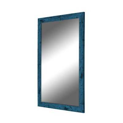 Dorian Vintage Blue Barnwood Wall Mirror - Wayfair