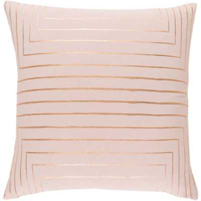 Shrewsbury Poly Euro Pillow, Pink  18x18 - Home Depot