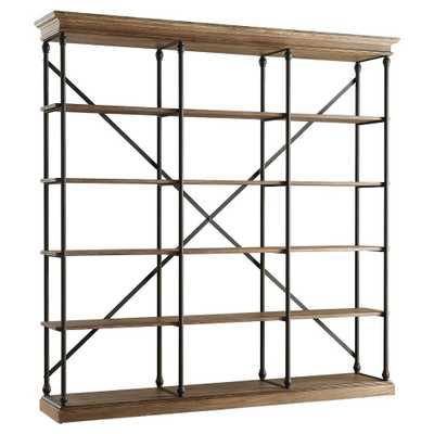 Belvidere 5 Shelf Wide 84 Bookcase Black - Inspire Q, Brown - Target