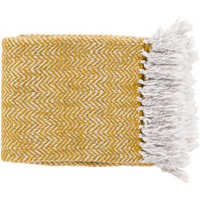Lorelei Gold Acrylic Throw - Home Depot
