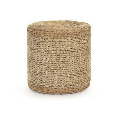 Ahlers Woven Cylinder Accent Stool - Wayfair