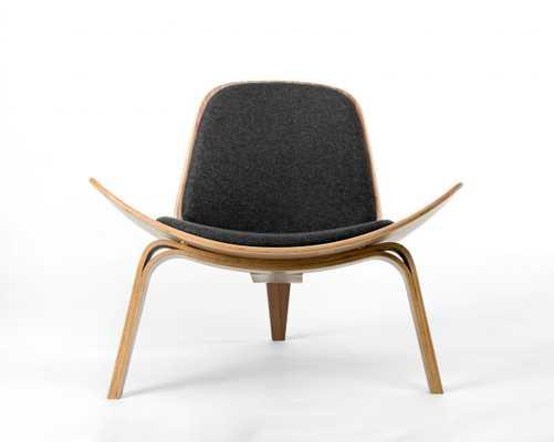 Shell Chair - Ebony Palermo Dark Tan - Rove Concepts