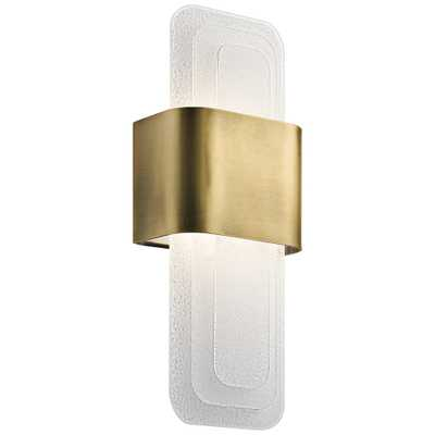 "Kichler Serene 17"" High Natural Brass LED Wall Sconce - Style # 43Y59 - Lamps Plus"