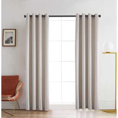 Lyndale Decor Venus 95 in. L x 52 in. W Blackout Polyester Curtain in White - Home Depot