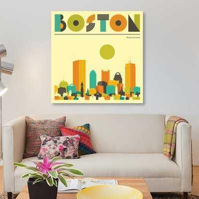 'Boston Skyline' Graphic Art Print on Canvas - Wayfair