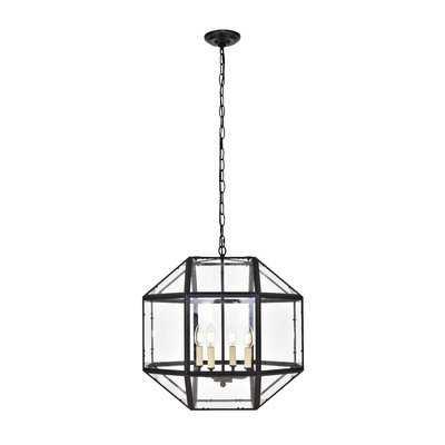 Burkeville 4-Light Candle Style Geometric Chandelier - AllModern