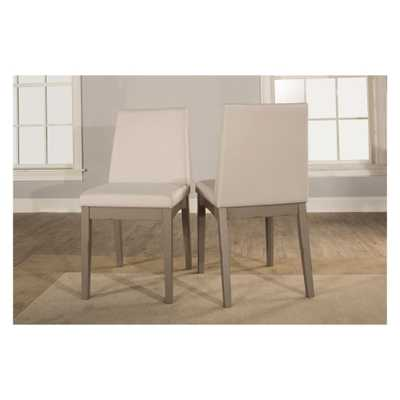 Clarion Upholstered Dining Chair Set of 2 Distressed Gray - Hillsdale Furniture - Target