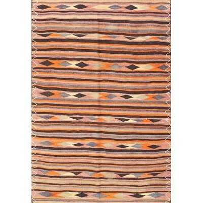 Contemporary Pink/Orange/Blue Area Rug - Wayfair