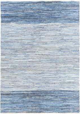 Halle Rug, 8'x11', Bright Blue - Cove Goods