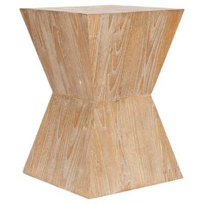 Noatak Side Table Pickled Oak (Brown) - Safavieh - Target