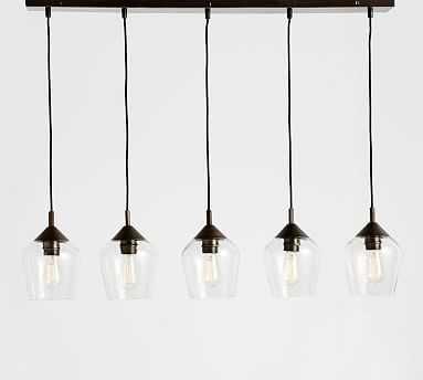 Donovan Glass 5-Light Pendant - Pottery Barn