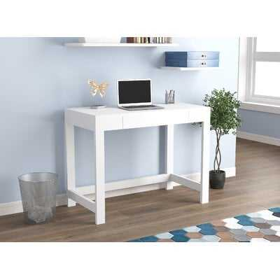 Computer Desk White 1 Compact Drawer - Wayfair