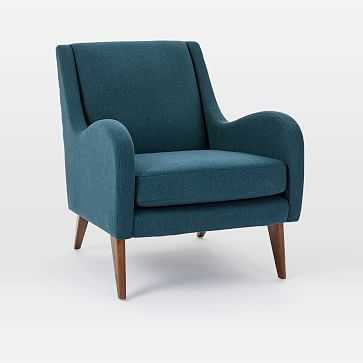 Sebastian Chair, Twill, Teal - West Elm