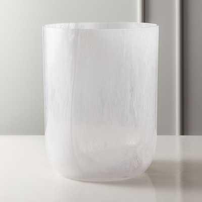 Aura Swirl Glass Wastecan - CB2