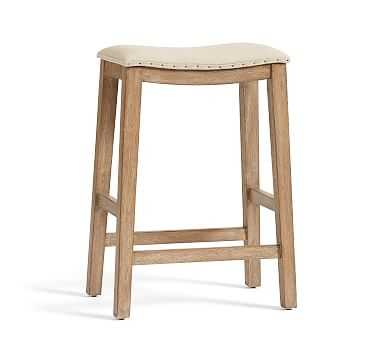 Selma Counter Height Counterstool, Weathered Grey - Pottery Barn