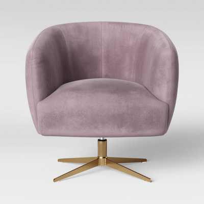 Morpho Swivel Velvet Arm Chair Blush Pink - Opalhouse - Target