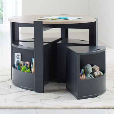 Nesting Charcoal Play Table and Chairs - Crate and Barrel