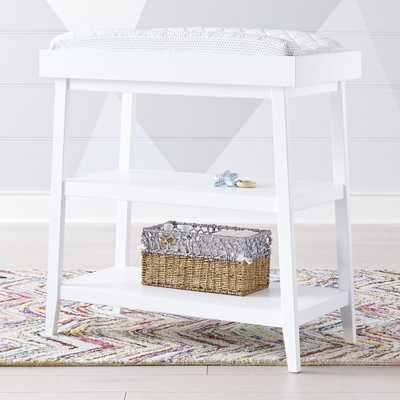 Ever Simple White Changing Table - Crate and Barrel