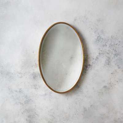 Kennedy Gold Oval Accent Mirror - Wayfair
