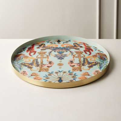 Regal Monkeys Enamel Serving Tray - CB2