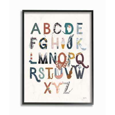 "The Kids Room by Stupell 11 in. x 14 in. ""Alphabets Instruments Kids Nursery"" by Becky Thorns Framed Wall Art, Multi-Colored - Home Depot"