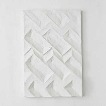 Paper Mache Geo Panel Wall Art, Panel II - West Elm