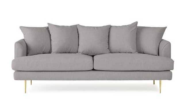 Gray Aime Mid Century Modern Sofa - Taylor Felt Grey - Joybird