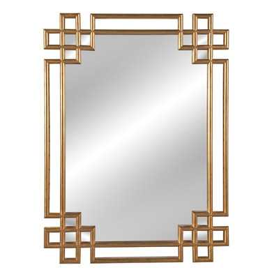 Hrima Rectangle Gold Wall Mirror - AllModern