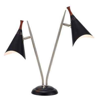 Adesso Draper 22 in. Black Desk Lamp - Home Depot