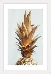 The Gold Pineapple by Chelsea Victoria - Picture Frame Photograph Print on Canvas - AllModern