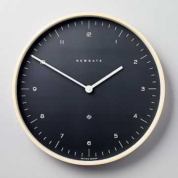 Mr. Clarke Clock, Large, Oil Gray - West Elm
