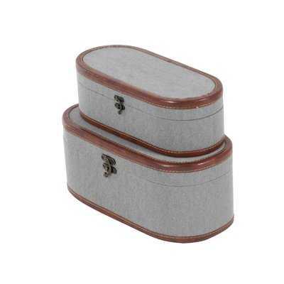 Wood/Fabric 2 Piece Decorative Box Set - Wayfair