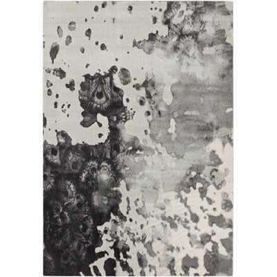 Saguaro Abstract Black/Light Gray Area Rug - AllModern