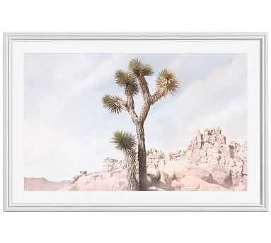 "Joshua Tree #5 Framed Print by Jane Wilder, 42 x 28"", Ridged Distressed Frame, White, Mat - Pottery Barn"